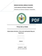 Estructura de La Tesis FCCyF 2019