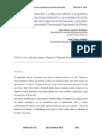 Diagnostico, planeación y evaluación educativa en genética como materia interactiva, en relación a la teoría interrelacionada con la práctica en licenciatura y posgrado de la Benemérita Universidad Autónoma de Puebla