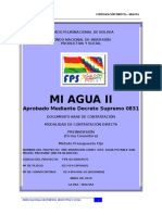 Pre Inversion Const. Sist. Agua Potable San Miguel Muchane (Palos Blancos)