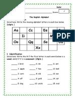 English 1 - Quiz 1
