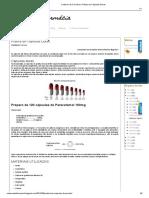 Caderno de Farmácia_ Prática de Cápsulas Duras