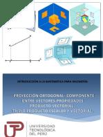 P_Sem5_ Ses 9 _PROYECCIÓN Y COMPONENTE. PRODUCTO VECTORAL. TRIPLE PRODUCTO ESCALAR Y VECTORIA. (1).pdf