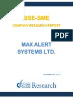 BSE SME Company Research Report - Max Alert Systems Ltd.pdf