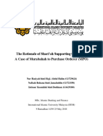 (Term Paper) The Rationale of Shari'ah Supporting Contracts- A Case of MPO.docx