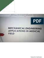 Mechanical Engineering Uses in Medical Field
