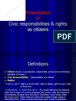1- Civic Responsibilities & Rights as Citizens