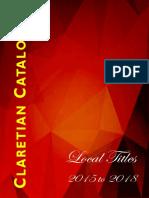 Claretian Catalogue 2018