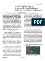 Analysis of Flood Control in the Area of Development II City of Pekanbaru (Case Study
