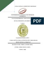 Código de Ética de La Investigación y Princpios