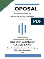 Proposal Pagar Makam