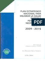 Plan estratégico nacional para mejorar la salud materna perinatal y neonatal en Bolivia 2009 - 2015