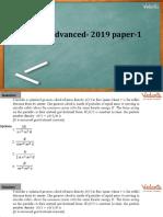 PDF _ JEE Advanced- 2019 Paper-1