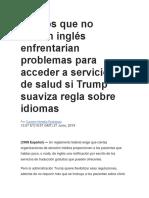 Latinos que no hablan inglés