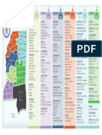 2018 Deanery Map for Catholic Diocese of Jackson