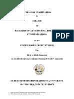 Syllabus BA (JMC) 2016, Approved by BOS-1