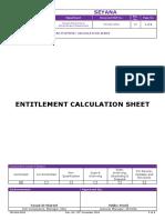 _fm-Hra-0054 Entitlement Calculation Sheet