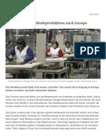 Die Rückkehr der Modeproduktion nach Europa