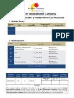 Material Management Plan