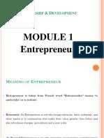 Module-1  entrepreneurship development