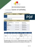 Procedure System of Scaffolding