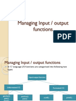 Managing Input Outout Function