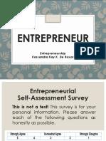 Entrepreneur & Levels of Entrepreneurial Development