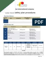 Cold Work Safety Plan Procedures