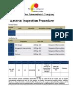 Material Inspection Procedure