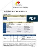 Hydrotest Plan and Procedure