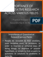 Importance of Quantitative Research Across Fields