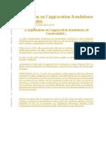 L'Organisation Ou l'Aggravation Frauduleuse de l'Insolvabilité