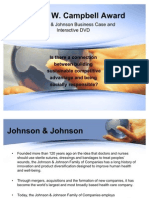 Johnson & Johnson Business Case Slides -- Robert W. Campbell Award