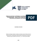 Tempo de Estudo Autónomo e Autorregulação Da Aprendizagem - Inês Cunha