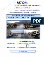 Informe de Diseño Nº 2 - Mezcla Asfaltica en Caliente