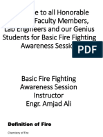 Fire Fighting and Safety Awareness