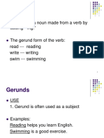 Gerunds and Infinitives Ppt