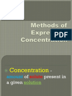 Methods of Expressing Concentration