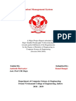 Report of Student Management System