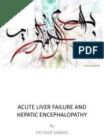Hepatic Encephalopathy.pptx Acute Liver Failure Dr Faiza