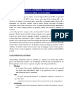 Approved Guidelines for Synopsis Thesis Phd Degree