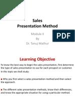 Sales Presentation Method-Module II