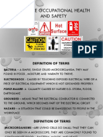 Practice Occupational Health and Safety (Week8)
