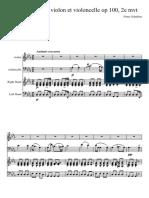 Franz Schubert - Piano Trio in Eb Major D.926 Op. 100 Mvt 2