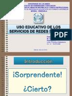 Uso Educativo de Los Servicios de Redes Sociales en Linea
