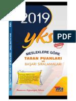 2019 yks taban puanlar ve başarı sıralamaları (Açı Koleji).pdf