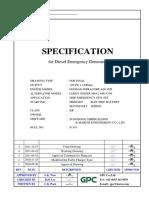 1. Specification for Diesel Emergency Generator S1143