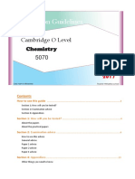 O'Level Chemistry(5070) Guideline