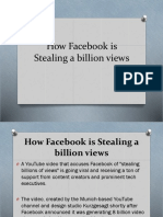 How Facebook is Stealing a Billion Views