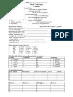 Final Test Paper