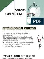 Psychological Criticism